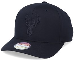 Milwaukee Bucks Team Pop Black 110 Adjustable - Mitchell & Ness