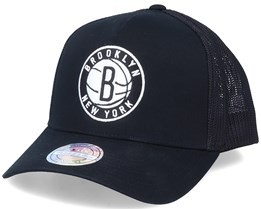 Brooklyn Nets Team Logo Black 110 Trucker - Mitchell & Ness