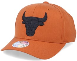 Chicago Bulls Black Logo Rust 110 Adjustable - Mitchell & Ness