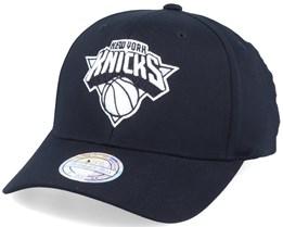 New York Knicks Black & White Logo 110 Adjustable - Mitchell & Ness
