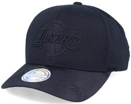 LA Lakers Black Out Black 110 Adjustable - Mitchell & Ness