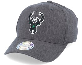 Milwaukee Bucks Heather Pop Charcoal 110 Adjustable - Mitchell & Ness