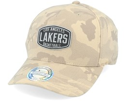 LA Lakers Camo Khaki 110 Adjustable - Mitchell & Ness