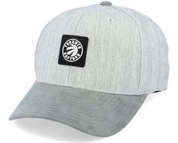 Toronto Raptors Grey Monotone Grey Heather Grey 110 Adjustable - Mitchell & Ness