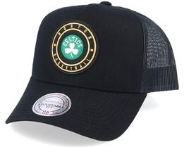 Boston Celtics Hickory Black Trucker - Mitchell & Ness
