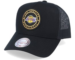 LA Lakers Hickory Black Trucker - Mitchell & Ness