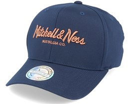 Own Brand Metallic Pinscript Navy/Copper 110 Adjustable - Mitchell & Ness
