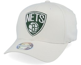 Brooklyn Nets Stone/Forest 110 Adjustable - Mitchell & Ness