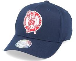 Boston Celtics Navy/Red/White 110 Adjustable - Mitchell & Ness