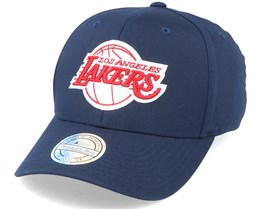 LA Lakers Navy/Red/White 110 Adjustable - Mitchell & Ness