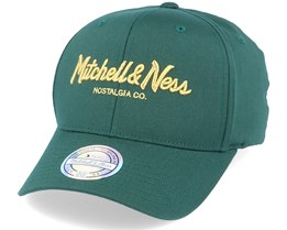 Own Brand Metallic Pinscript Forest/Gold 110 Adjustable - Mitchell & Ness