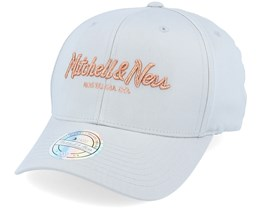 Own Brand Metallic Pinscript Grey/Copper 110 Adjustable - Mitchell & Ness