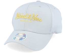 Own Brand Metallic Pinscript Grey/Gold Adjustable - Mitchell & Ness