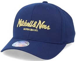 Own Brand Exclusive Pinscript Navy/Gold 110 Adjustable - Mitchell & Ness