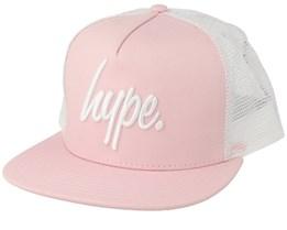 Big Script Baby Pink/White Trucker - Hype