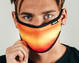 Orange Fade Multi Face Mask - Hype