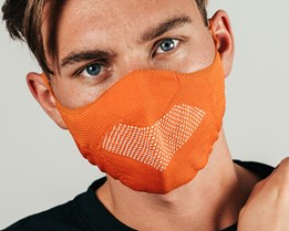 Orange Knit Orange Face Mask - Hype