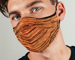 Melange Knit Orange/Black Face Mask - Hype