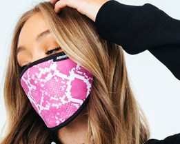 Snake Pink Face Mask - Hype