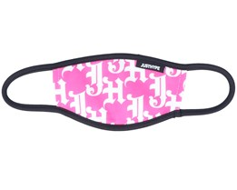 Kids Gothic Logo Pink/White Face Mask - Hype