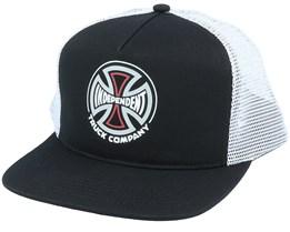 Converge Meshback Cap Black/White Snapback - Independent