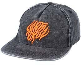 Salba Tiger Snapback Cap Acid Wash Black Snapback - Santa Cruz
