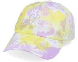 Mako Dot Cap Yellow/Purple Fold Dye Dad Cap - Santa Cruz