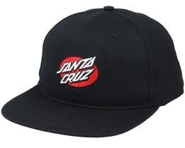 Oval Dot Snapback Cap Black - Santa Cruz