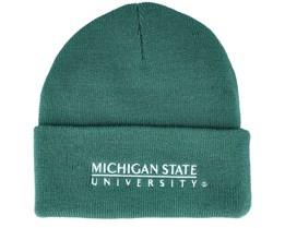University Of Michigan Logo Cuff Knit Green Cuff - Mitchell & Ness
