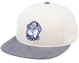 Georgetown Hoyas Blockhead Deadstock Stone/Grey Snapback - Mitchell & Ness