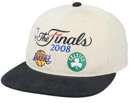 Boston Celtics Finals History Stone/Black Snapback - Mitchell & Ness