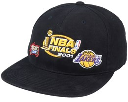 LA Lakers Finals History Black Snapback - Mitchell & Ness