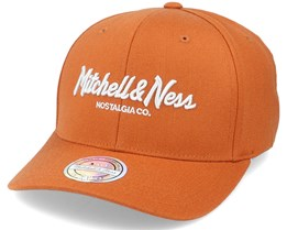 Own Brand Pinscript Snapback Burnt Orange/Silver 110 Adjustable - Mitchell & Ness