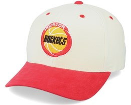 Houston Rockets Pro Crown White/Red Adjustable - Mitchell & Ness