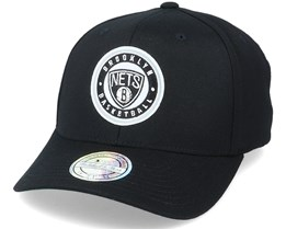 Brooklyn Nets Varsity Patch Black 110 Adjustable - Mitchell & Ness