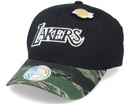 LA Lakers Tiger Camo Black/Camo 110 Adjustable - Mitchell & Ness