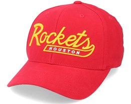 Houston Rockets Vintage Tailscript Red 110 Adjustable - Mitchell & Ness