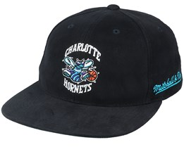 Charlotte Hornets Dropback Deadstock Black Snapback - Mitchell & Ness