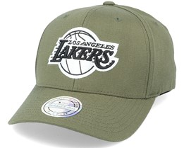 LA Lakers Black/White Logo Olive 110 Adjustable - Mitchell & Ness