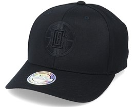 LA Clippers Black Logo/Black 110 Adjustable - Mitchell & Ness