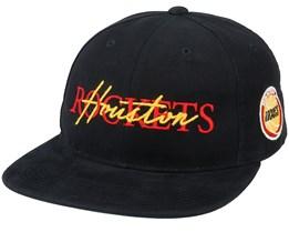 Houston Rockets Zone Deadstock Black Snapback - Mitchell & Ness