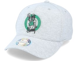 Boston Celtics Melange Knit Snapback Heather Grey 110 Adjustable - Mitchell & Ness