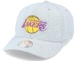 LA Lakers Melange Knit Snapback Heather Grey 110 Adjustable - Mitchell & Ness