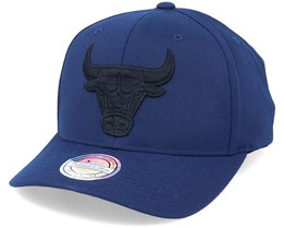 Chicago Bulls Black On Black Navy Adjustable - Mitchell & Ness