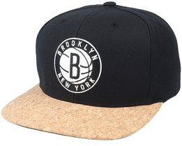 Brooklyn Nets Exclusive Cork Brim Snapback - Mitchell & Ness