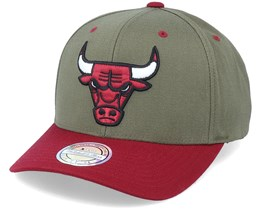 Chicago Bulls Exclusive Chicago Bulls Olive/Maroon 110 Adjustable - Mitchell & Ness