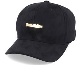 Own Brand Suede Metallic Logo Black/Gold Adjustable - Mitchell & Ness