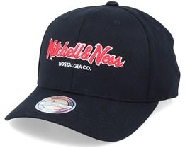 Hatstore x Exclusive Pinscript Black/Red 110 Adjustable - Mitchell & Ness