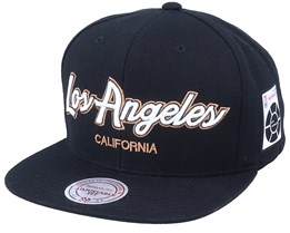 Hatstore Exclusive x Los Angeles Script & Patches Snapback - Mitchell & Ness