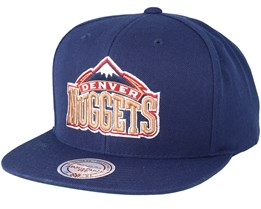 Denver Nuggets Wool Solid Navy Snapback - Mitchell & Ness
